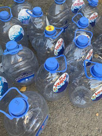 5-6 литровые бутылки из под воды