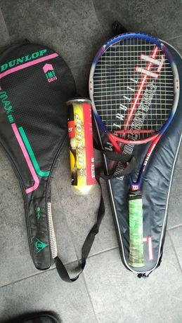 Rachete tenis + set mingi Dunlop