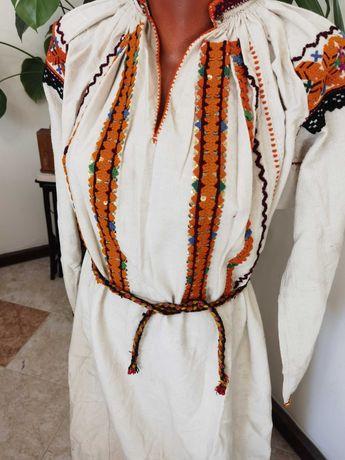 Автентична Старинна Царска Хърцойска Риза Рокля от Народна Носия -
