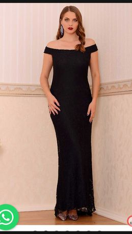 Rochie neagra  dantela lunga pt ocazie L -rochie rosu cu catifea M-Noi