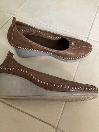 Кожени дамски обувки с анатомична стелка