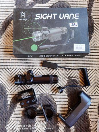 Laser verde de pus pe arma