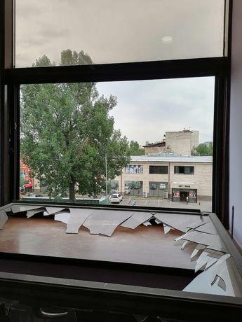замена разбитого стекла и стеклопакета. ремонт дверей и окон.