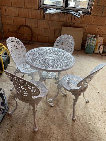 Set masasi 4 scaune de gradina din aluminiu
