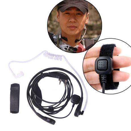 Casca laringofon in-ear statie radio portabila BaoFeng Puxing Kenwood