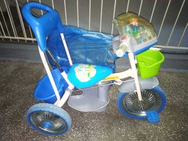 Tricicleta pliabila Albastru