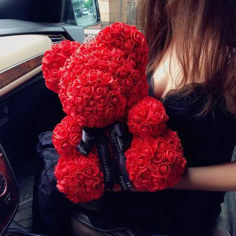 Ursulet din trandafiri de sapun cadou inima teddy bear
