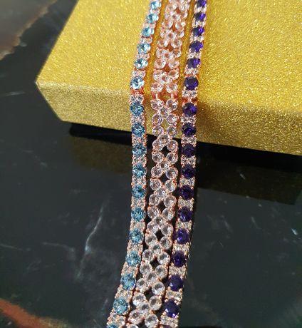 Bratara  placata cu aur si cristale swarovski