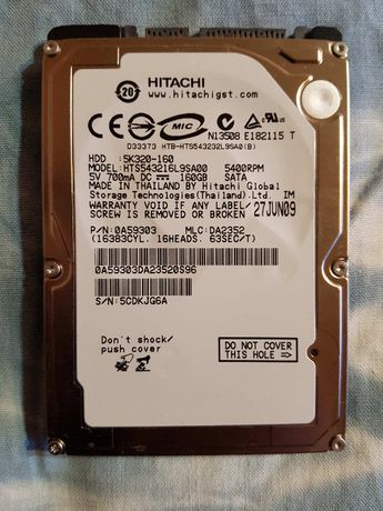 Hard disk laptop Hitachi 150 gb
