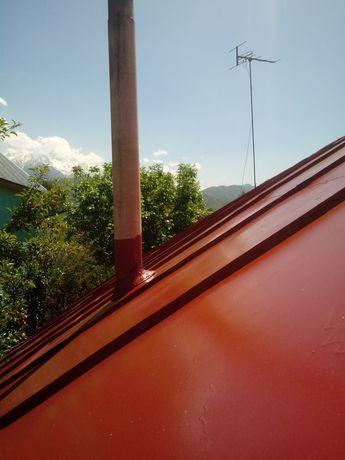 Покраска крыш, закатка фасадов.