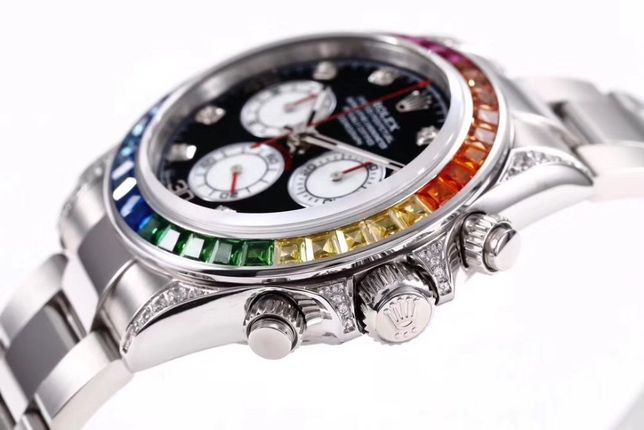Rolex Daytona 40mm Rainbow Silver ETA Automatic 1 la 1
