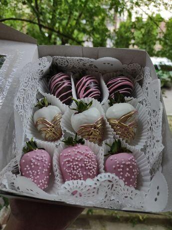Шоколадная клубника, букет, подарок, торт, сюрприз, клубника, шоколад