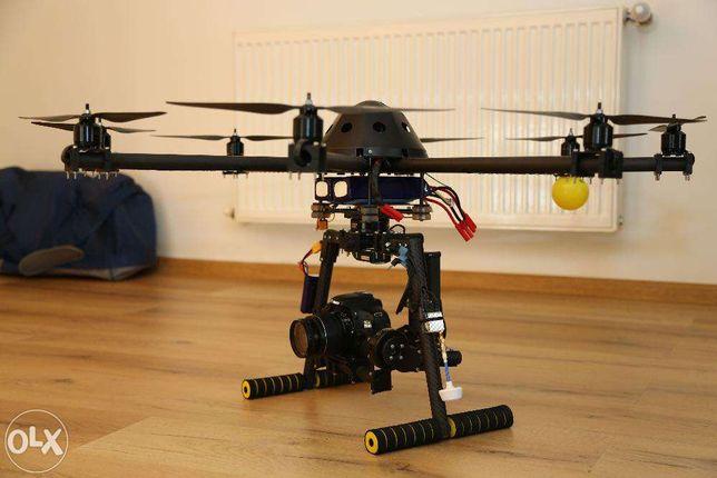 Drona profesionala XL+Brushless Gimbal (handheld+aerial) full carbon!