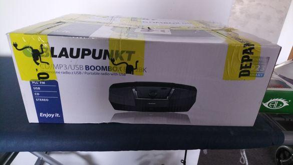 Нов, неотварян CD  плеър Blaupunkt Boombox BB12B . CD, Mp3, USB, radio
