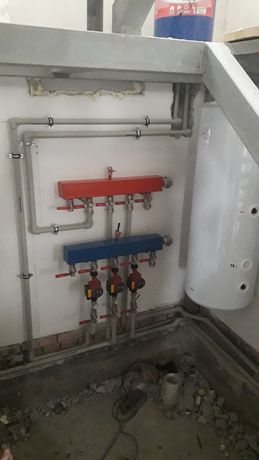 Монтаж отопления .тёплый пол .установка радиаторов сантехника
