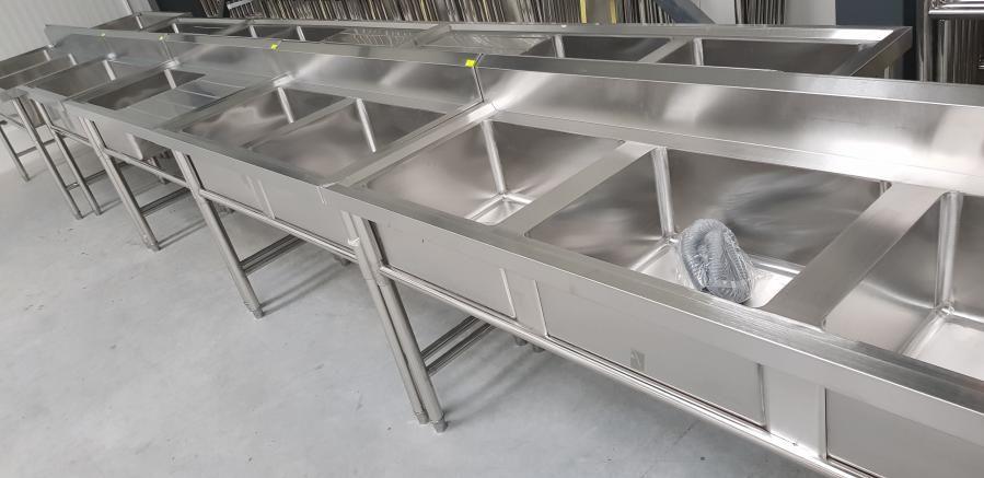 Работни Мивки кухненски от неръждаема стомана 18 модела налични
