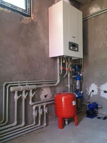 Установка газовых котлов,отопление,тёплый пол. Недорого.