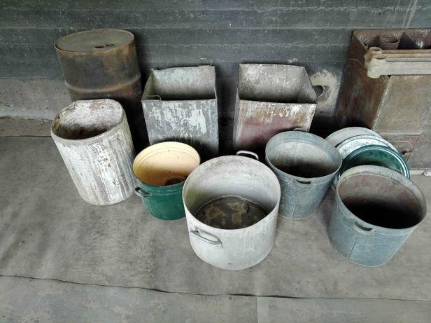 Бочки, кастрюли ,ящики металические