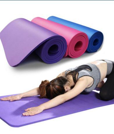 Коврики для йоги с чехлом толщина 10mm 185*80cm