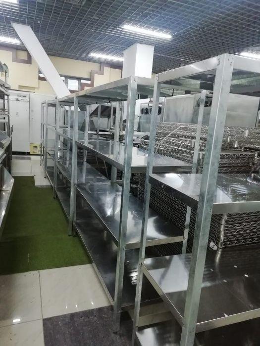 Продам стеллажи, столы, мойки из нержавейки для кухни столовой