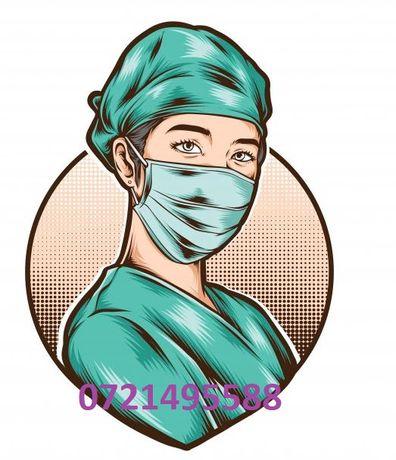 Asistent medical, perfuzii, injectii, branule, tratamente la domiciliu