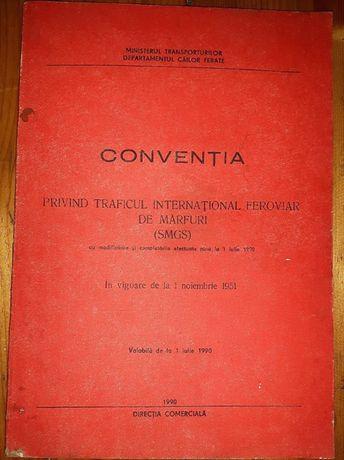 1990 - Conventia privind traficul international feroviar de marfuri