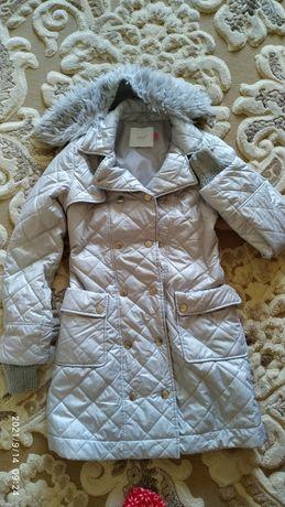 Стёганое пальто на девочку 10-12 лет