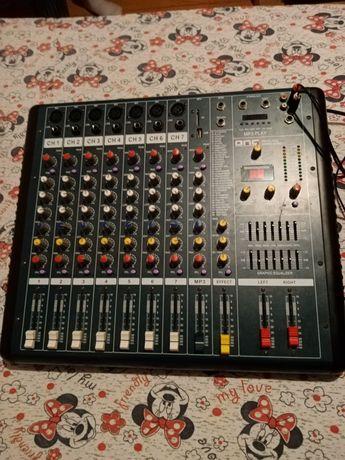Mixer professional amplificat