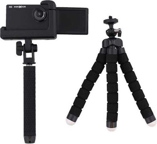 Maxxter Vlog Camera Set- Влог камера сет /камера, трипод, селфи стик/