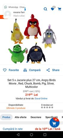 Plusuri angry birds Red, zeta, leon