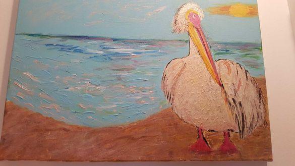 Картини 50/35 см. Платно и акрилни бои.