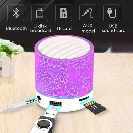 Мини портативна LED тонколонка колонка Bluetooth, USB, MicroSD, Радио