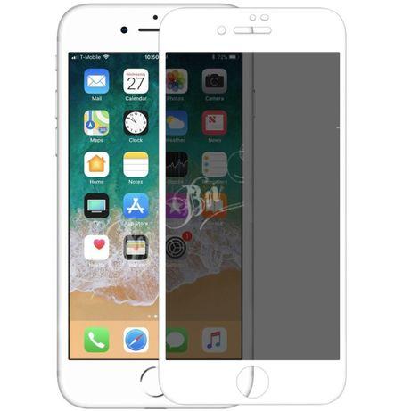 Iphone 6 6S+ 7 7+ 8 8+ Folie Sticla Curbata Privacy Alba Neagra