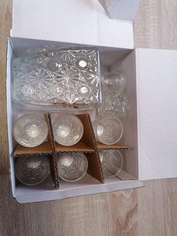 Set pahare cu sticla lichior