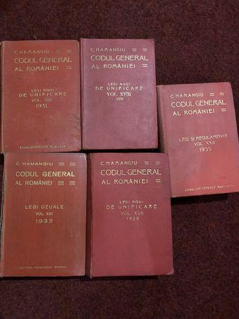 Lot 5 volume - Codul General al Romaniei - C.Hamagiu