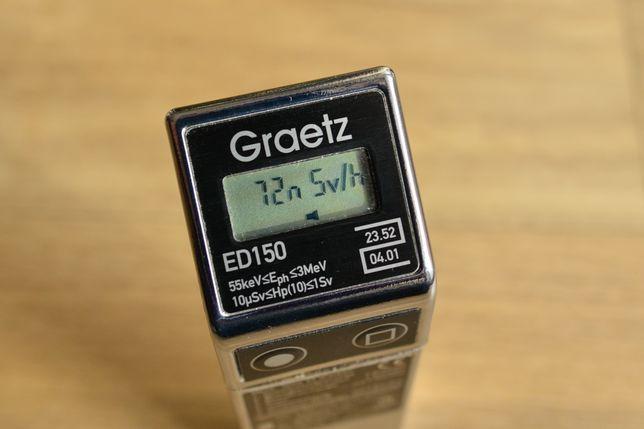 Graetz ED150 - dozimetru profesional, detector de radiatii X si gamma