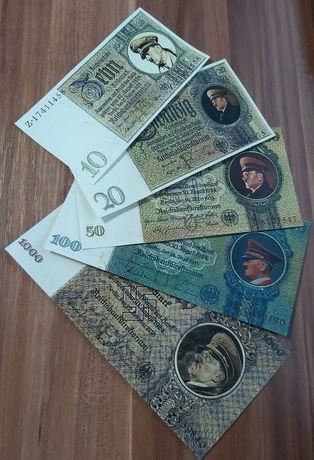 5 bancnote proiect fantezie ww2 Germania