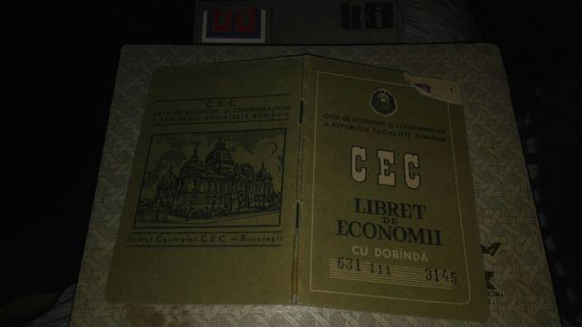 Livret de economie CEC anul 1978 ROMANIA