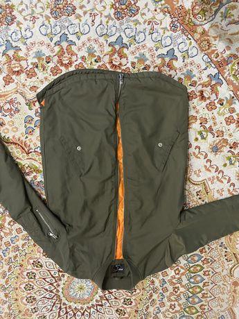Бомбер, куртка удлиненная