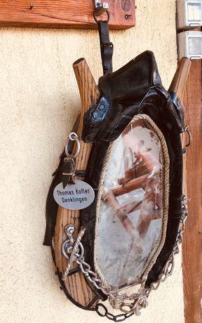 Oglindă vintage - jug cal - veche / Germania