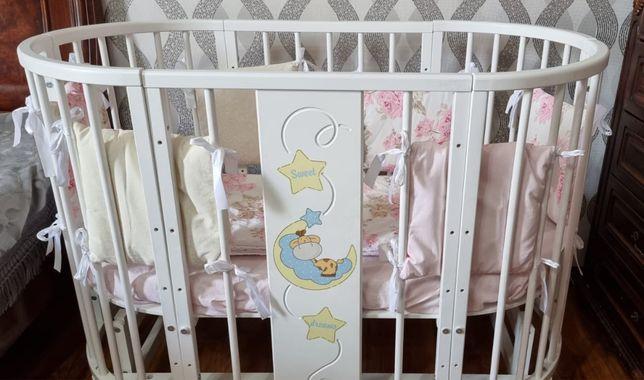 Продам детскую кроватку трансформер 6в1
