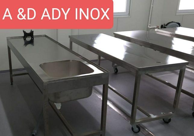 Masa inox pentru imbalsamare decedati