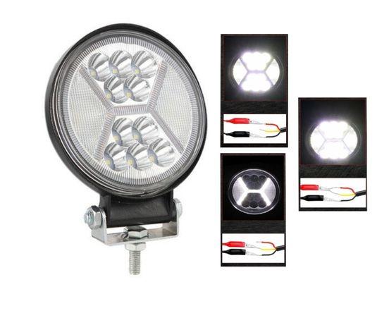 126W LED ЛЕД Диоден Фар Кръгла Работна Лампа Прожектор Задна Светлина