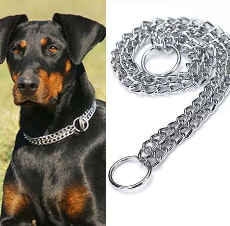 Стоманена двойна верижка/ синджир/ каишка за куче