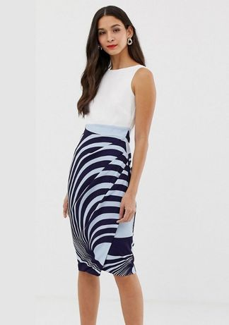 Новое платье летнее сарафан с Asos Closet 46 M миди футляр карандаш