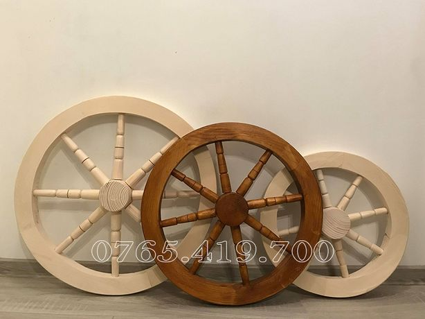 Roata de lemn / roata de lemn cu maner