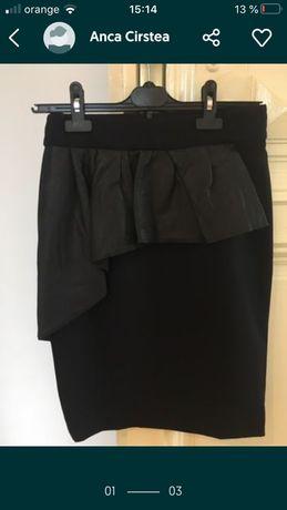 fusta scurta neagra Zara