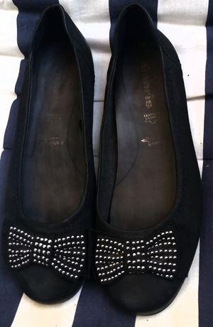 Pantofi balerini piele negri tamaris 38
