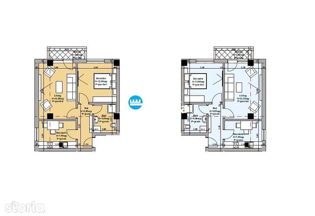 Apartament 2 camere decomandat de vanzare Valea Adanca