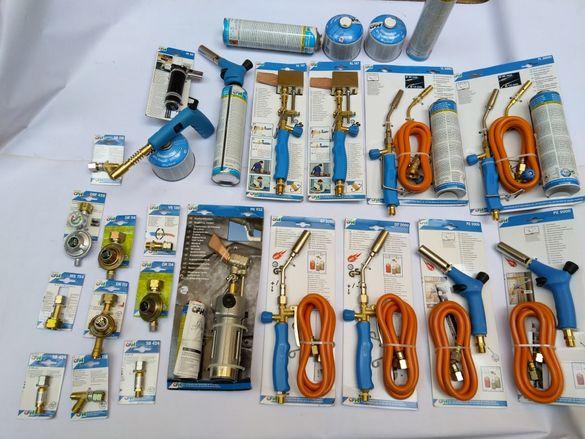 CFH газови горелки и поялници,флакони,оксижени,щуцери,клапани предпазн